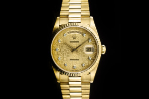 Rolex Day-Date (36mm) Ref.: 18238 in 18k Gelbgold mit Diamantbesatz auf dem Zifferblatt aus 1995