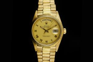 Rolex Day-Date (36mm) Ref.: 18078 in 18k Gelbgold mit Zifferblatt in Champagner aus 1983