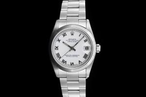Rolex Datejust Medium (31mm) Ref.: 68240 mit weißem Zifferblatt aus 1996