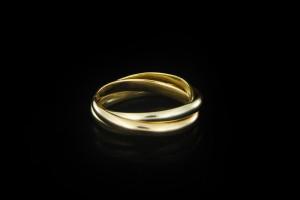 Cartier Trinity Ring | (Gr. 46) 18k Gelb, Weiß- & Roségold
