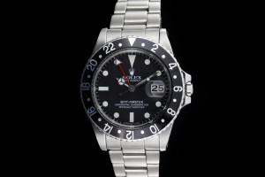 Rolex GMT-Master (40mm) Ref.: 16750 Schwarz mit Plexiglas aus 1979