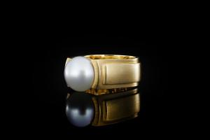 Jette Joop Perlenring in 18k Gelbgold