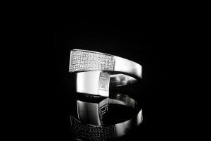 Jette Joop Weißgoldring mit ca. 0,3ct. Diamanten