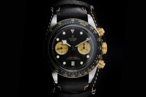 Tudor Heritage Black Bay Chrono (41mm) Ref.: 79363N in Edelstahl & Gold mit Box & Papieren aus 2019