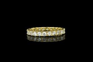 Memoryring mit Diamanten in 18k Gelbgold