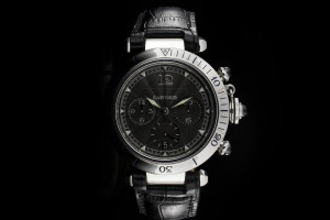 Cartier Pasha (38mm) Ref.: W3105155 mit Chronograph & Anthrazit Zifferblatt