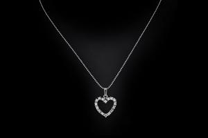 Herzanhänger mit ca. 0,5ct Diamanten