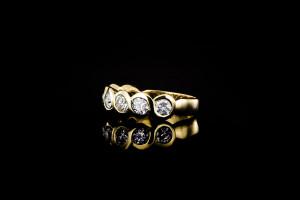Gelbgoldring mit ca. 1,5ct. Diamanten