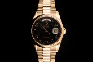 Rolex Day-Date (36mm) Ref.: 118205 in Roségold mit schwarzem Zifferblatt Box & Papiere aus 2002