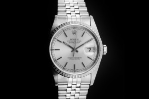 Rolex Datejust (36mm) Ref.: 16220 mit Zifferblatt in Silber aus ca. 2000