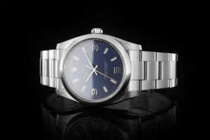 Rolex Air-King (34mm) Ref.: 114200 mit blauem Zifferblatt