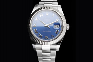 Rolex Datejust 41 (41mm) Ref.: 116334 mit Zifferblatt in Blau Box & Papiere aus 2016