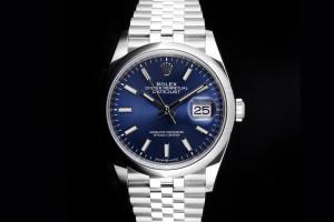 Rolex Datejust (36mm) Ref.: 126200 mit blauem Zifferblatt aus 2020