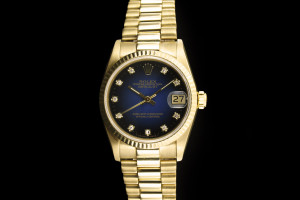 Rolex Datejust Medium (31mm) Ref.: 68278 in Gelbgold mit Diamantzifferblatt Box & Papiere 1985
