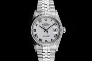 Rolex Datejust (36mm) Ref.: 16220 mit Zifferblatt in Weiss aus 1998