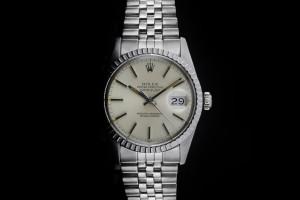 Rolex Datejust (36mm) Ref.: 16030 mit silbernem Zifferblatt & Plexiglas aus ca. 1983