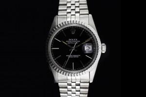 Rolex Datejust (36mm) Ref.: 16030 mit Zifferblatt in Schwarz aus 1982