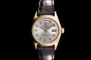 Rolex Day-Date (36mm) Ref.: 1803 in Gelbgold mit Lederband aus 1967