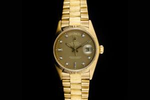 Rolex Day-Date (36mm) Ref.: 18078 in 18k Gelbgold mit Diamantzifferblatt aus 1986