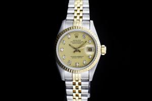 Rolex Lady Datejust (26mm) Ref.: 69173 in Stahl-Gold mit Diamantzifferblatt aus 1987