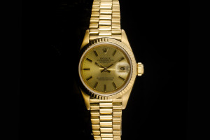 Rolex Lady Datejust (26mm) Ref.: 69178 in Gelbgold mit champagner Zifferblatt aus 1984