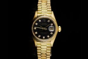 Rolex Lady Datejust (26mm) Ref.: 69278 in Gelbgold mit Diamantzifferblatt aus 1988