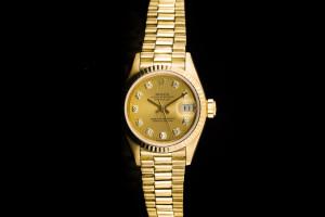 Rolex Lady Datejust (26mm) Ref.: 69178 in 18k Gelbgold mit Diamantbesatz aus 1987