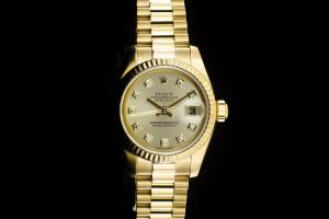 Rolex Lady Datejust (26mm) Ref.: 179178 in 18k Gelbgold mit Diamantzifferblatt aus 2002
