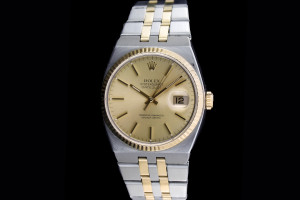Rolex Datejust Oysterquarz (36mm) Ref.: 17013 mit champagner Zifferblatt in Stahl-Gold aus 1980