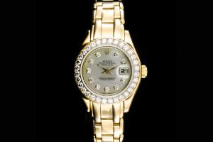 Rolex Pearlmaster Lady Datejust (29mm) Ref.: 69298 in 18k Gelbgold aus 1995