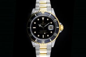 Rolex Submariner (40mm) Ref.: 16613 in Stahl Gold mit schwarzem Zifferblatt aus 1991