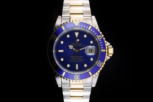 Rolex Submariner (40mm) Ref.: 16613 in Stahl Gold Box & Papiere aus 1994