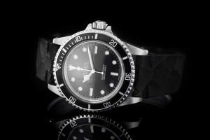 Rolex Submariner (40mm) Ref.: 5513 ohne Datum aus 1976 mit Vintage Lederband